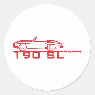 190SL Red Round Stickers