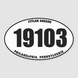 19103 Fitler Square PA oval stickers