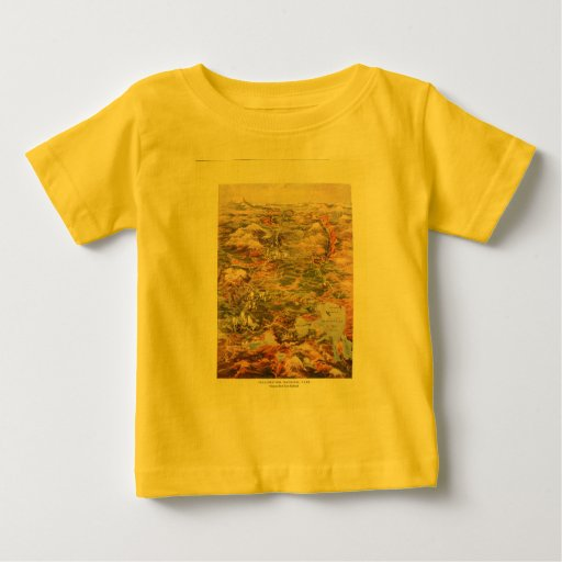 1910 Aerial View Map - Yellowstone National Park Baby T-Shirt