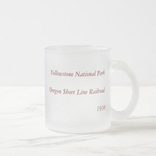 1910 Aerial View Map - Yellowstone National Park Frosted Glass Coffee Mug