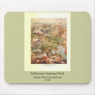 1910 Aerial View Map - Yellowstone National Park Mouse Pad