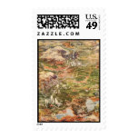 1910 Aerial View Map - Yellowstone National Park Postage