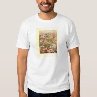 1910 Aerial View Map - Yellowstone National Park Shirt