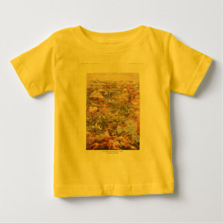 1910 Aerial View Map - Yellowstone National Park Tee Shirt