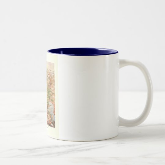 1910 Aerial View Map - Yellowstone National Park Two-Tone Coffee Mug