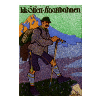 1910 Austrian Hiking Poster