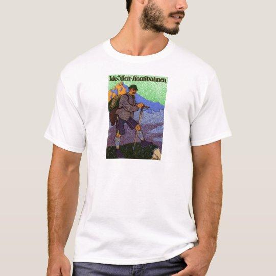 1910 Austrian Hiking Poster T-Shirt
