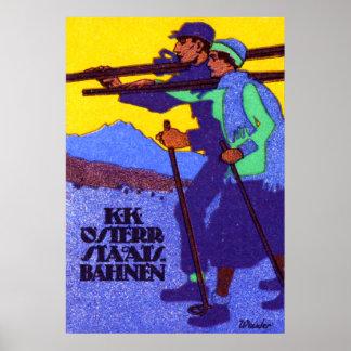 1910 Austrian Ski Poster