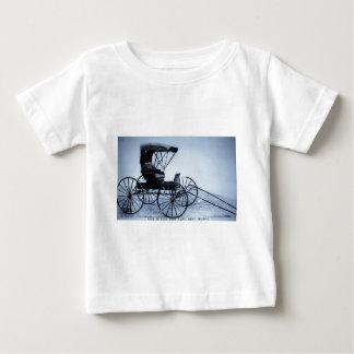 1910 Auto Seat Buggy Cyan Tone Baby T-Shirt