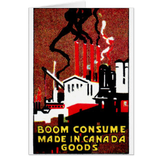1910 Buy Canadian Goods Poster Card