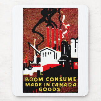 1910 Buy Canadian Goods Poster Mouse Pad