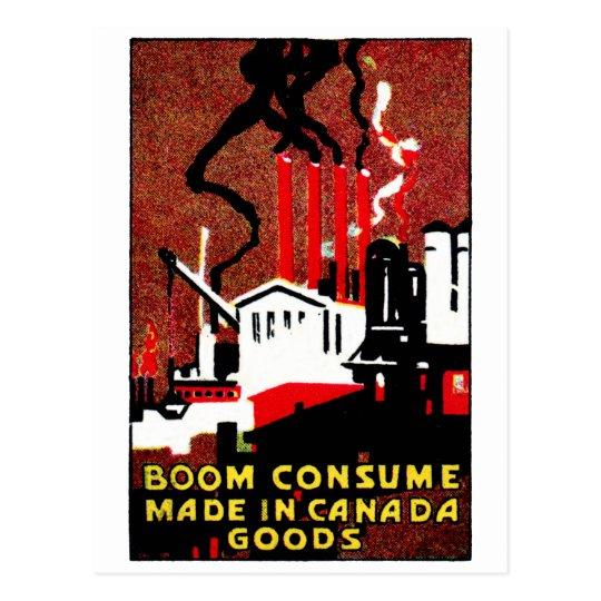 1910 Buy Canadian Goods Poster Postcard