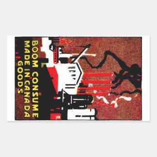 1910 Buy Canadian Goods Poster Rectangular Sticker