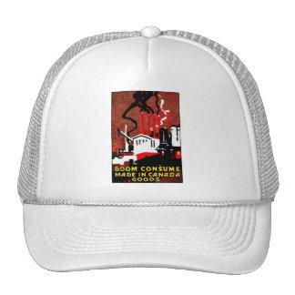 1910 Buy Canadian Goods Poster Trucker Hat