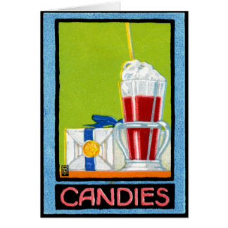 1910 Candies Greeting Cards