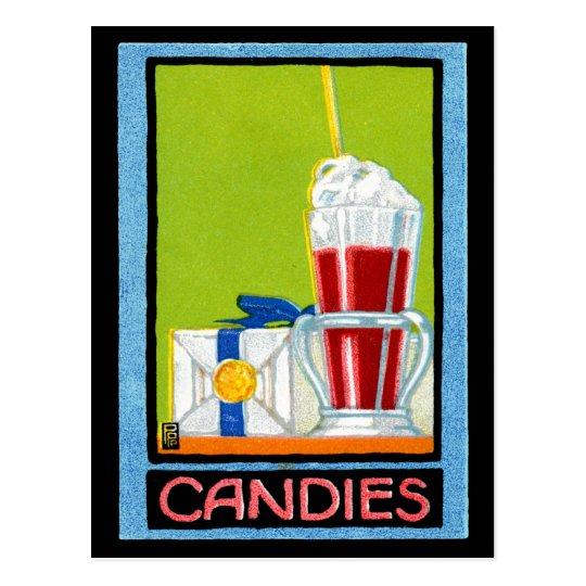 1910 Candies Postcard