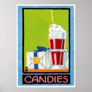 1910 Candies Print