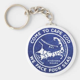 1910 Cape Cod Basic Round Button Keychain
