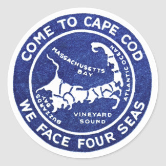 1910 Cape Cod Classic Round Sticker