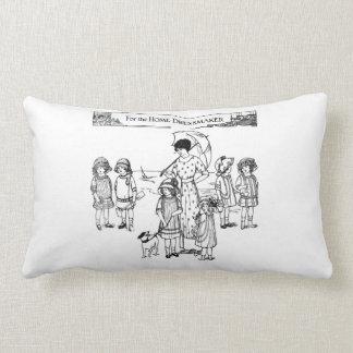 1910 Children's fashion newspaper illustration Throw Pillow