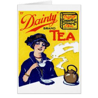 1910 Dainty Tea Greeting Card