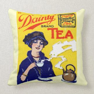 1910 Dainty Tea Throw Pillow