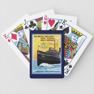 1910 Detroit to Buffalo Steamship Bicycle Playing Cards