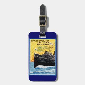 1910 Detroit to Buffalo Steamship Bag Tags