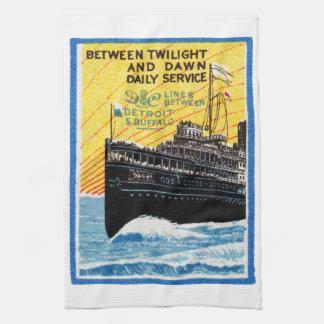 1910 Detroit to Buffalo Steamship Towel