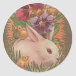 1910 Easter Bunny Round Stickers