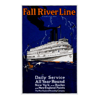 1910 Fall River Steamship Line Poster