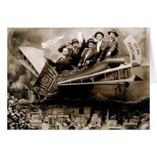 1910 Flight over Portland Card