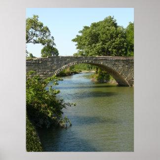 1910 Fox Creek Stone Arch Bridge Poster