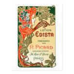1910 French Art Nouveau label Postcard
