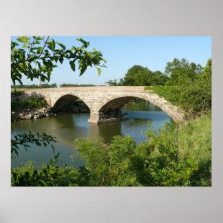 1910 Grouse Creek Two Span Stone Arch Bridge Poster