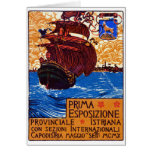 1910 Istrian Expo Poster Greeting Card