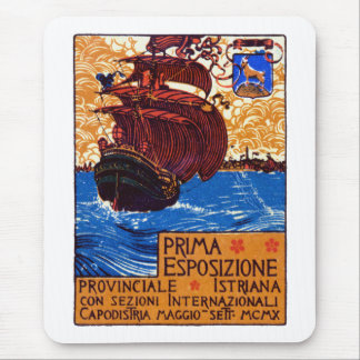 1910 Istrian Expo Poster Mouse Pad