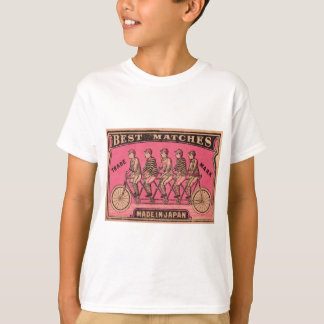 1910 Japanese Tandem Bicycle Matchbox Label T-Shirt