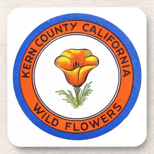 1910 Kern County California Beverage Coaster