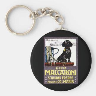 1910 Maccaroni Poster Basic Round Button Keychain