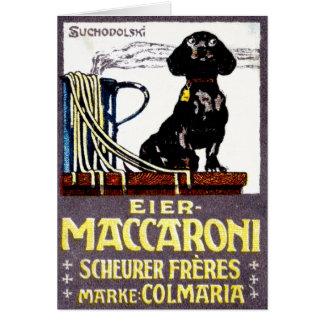 1910 Maccaroni Poster Card