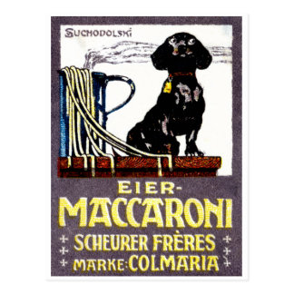 1910 Maccaroni Poster Post Card