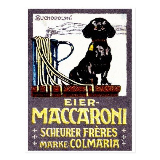 1910 Maccaroni Poster Postcard