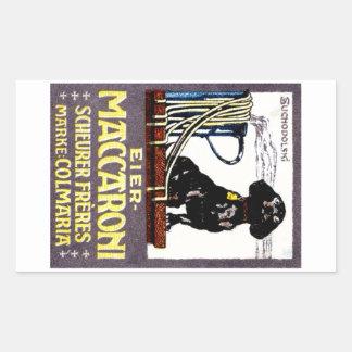 1910 Maccaroni Poster Rectangle Sticker