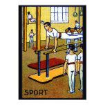 1910 Men's Gymnastics Personalized Announcements