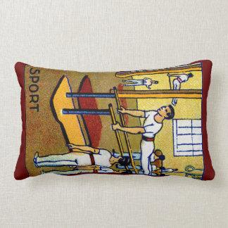 1910 Men's Gymnastics Throw Pillows