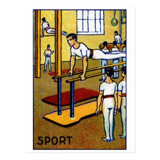 1910 Men's Gymnastics Postcard