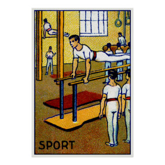 1910 Men's Gymnastics Poster