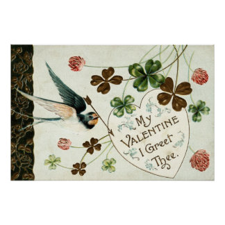 1910 My Valentine, I Greet Thee Poster