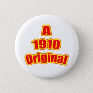 1910 Original Red Pinback Button
